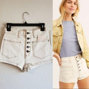 Free People Bridgette denim shorts (NWT)
